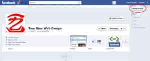 Facebook custom app icon - Admin panel button